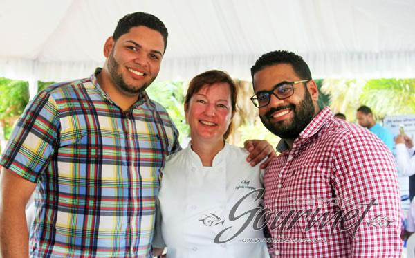 Héctor Guzmán, Chef Sylvia Hampe y Francisco Mena