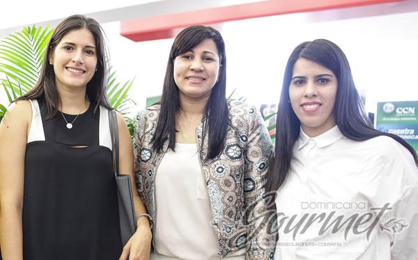 Claudia Defilló, Cony Taveras y María Herrera.